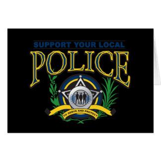 Stützen Sie Ihre lokale Polizei Karte