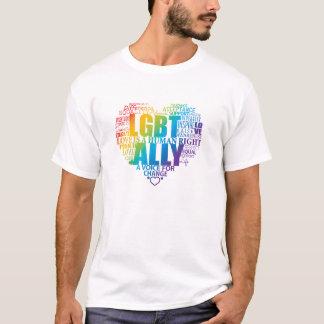 Stützen Sie sich und seien Sie ein Verbündeter zur T-Shirt