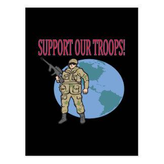 Stützen Sie unsere Truppen Postkarte