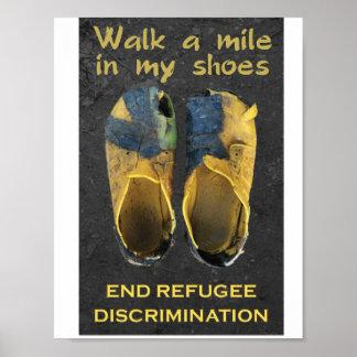 Stützflüchtlings-Plakate Poster