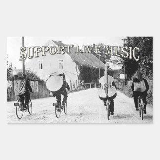 StützLive-Musik Rechteckiger Aufkleber