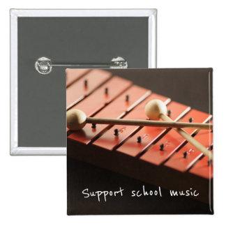 Stützschulmusikxylophone-Knopf Quadratischer Button 5,1 Cm