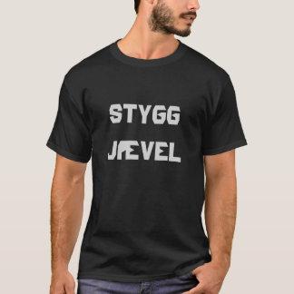 stygg jævel, hässlicher bastard auf Norweger T-Shirt
