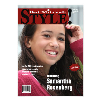 Style ! Invitation de magazine de bat mitzvah,