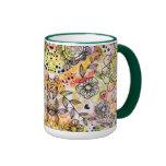 Style mignon de griffonnage de conception florale  mugs à café