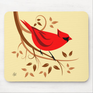 Stylized roter Kardinal Mousepads