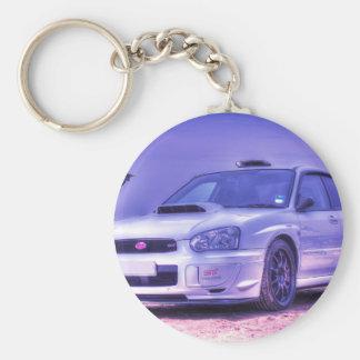 Subaru Impreza WRX WTI-Spezifikt. C im Weiß Standard Runder Schlüsselanhänger