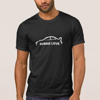 Subbie Liebe-weißes Silhouette-Logo T-Shirt