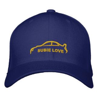 Subie Liebe-königliches Blau mit GoldSilhouette Bestickte Baseballkappe