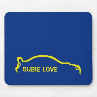 Subie Liebe - WeltKundgebung blau und gelb Mauspad