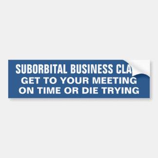 SUBORBITAL BUSINESS-CLASS… AUTOAUFKLEBER