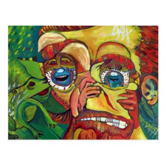 Subtile Vincent van Gogh-optische Täuschung Postkarte
