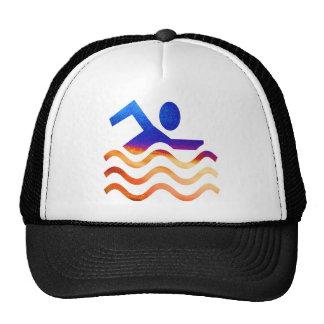 Succès de natation - esprit frais en périodes chau casquette de camionneur