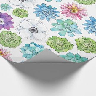 Succulents Geschenkpapier