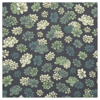 Succulents-Muster Stoff