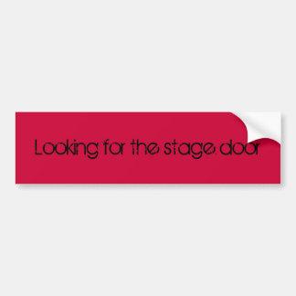 Suchen des Bühnetür-Autoaufklebers Autoaufkleber