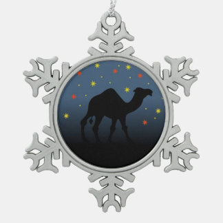 Suchen nach einem Stern Schneeflocken Zinn-Ornament