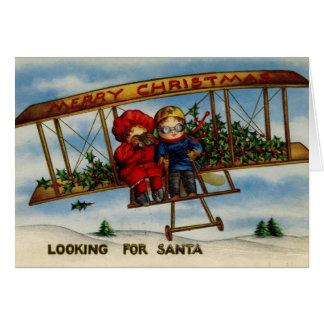 Suchen nach Vintager Weihnachtskarte Sankt Karte