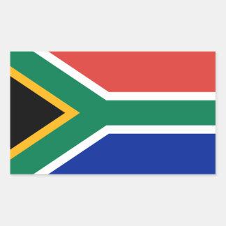 Südafrika/afrikanische Flagge Rechteckiger Aufkleber