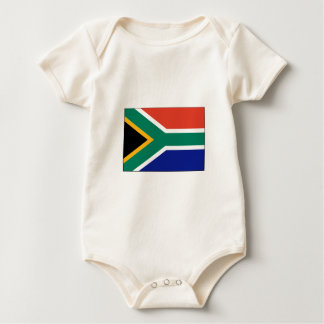 Südafrika-FLAGGE International Strampelanzug