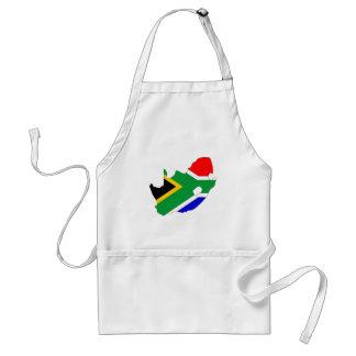 Südafrika-Flaggen-Karte Größengleich Schürze