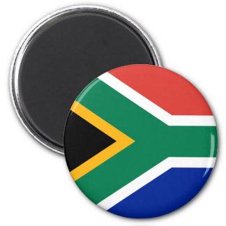 Südafrika-Flaggen-Magnet Runder Magnet 5,1 Cm