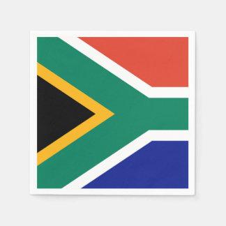 Südafrikanische Flagge Papierserviette
