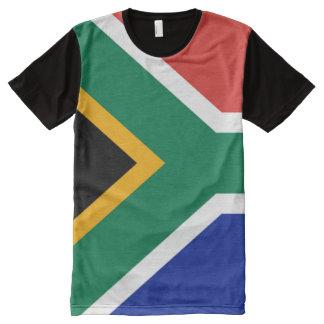 Südafrikanische Flagge voll T-Shirt Mit Komplett Bedruckbarer Vorderseite