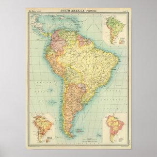 Südamerika politisch poster