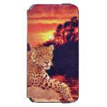 Südamerikanisches Jaguar, das am Sonnenuntergang Incipio Watson™ iPhone 6 Geldbörsen Hülle