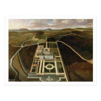 Südaussicht des Hampton Court, Herefordshire, C. Postkarte