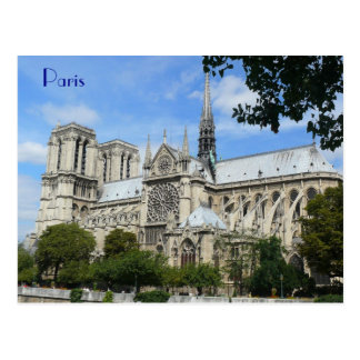 Südfassade, Notre Dame-Kathedrale, Paris, Postkarte