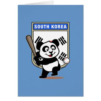 Südkorea-Baseball-Panda Karte