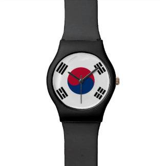 Südkorea-Flagge Armbanduhr