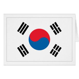 Südkorea-Flagge Karte
