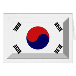 Südkorea-Flaggen-Juwel Karte
