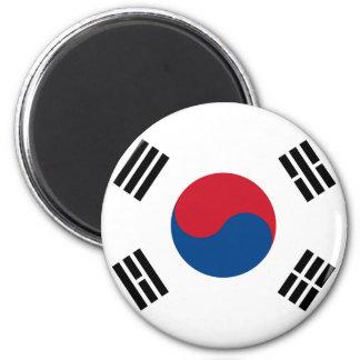 Südkorea-Flaggen-Magnet Runder Magnet 5,7 Cm