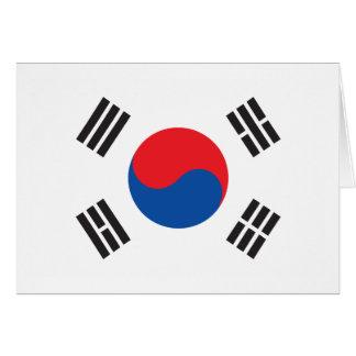 Südkorea-Gruß-Karte Karte