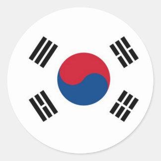 Südkorea rund (nicht für externen Gebrauch) Runder Aufkleber