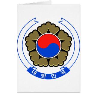 Südkorea-Wappen Karte