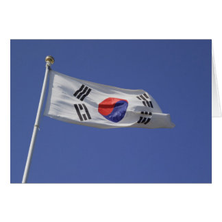 Südkoreanische Flagge Karte