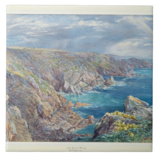 Südküste von Guernsey vom Cribiere, 1862 (w Fliese