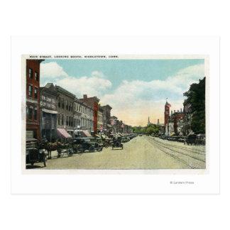 Südliche Ansicht-unten Hauptstraße Postkarte