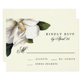 Südliche Magnolien-botanische Hochzeit UAWG Karte