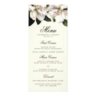 Südliche Magnolien-botanische Hochzeits-Menü-Karte Werbekarte