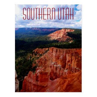 Südliche Utah-Postkarte nahe Bryce Schlucht Zion Postkarte