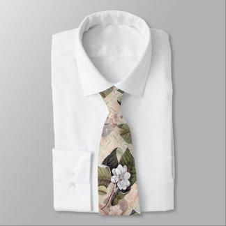 Südlicher Herr-elegante Vintage Magnolie Krawatte