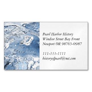 Südliches obenliegendes Ansicht-Pearl Harbor Magnetische Visitenkarten