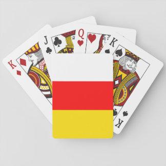 Südossetien-Flagge Pokerkarten