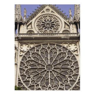 SüdRosen-Fenster in Notre- Damekathedrale herein Postkarte